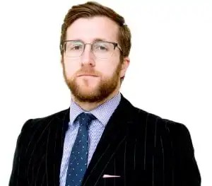 Photo of Kevin Donoghue, solicitor, who discusses the weapons effect with respect to the police's use of Taser stun-guns.