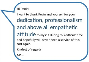 Testimonial review from a satisfied client of Donoghue Solicitors.