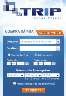 tripe 20linhas 20a C3 A9reas Trip, Passagens Áreas em Promoção, Preços