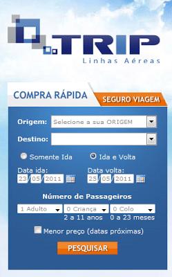 tripe 20linhas 20a C3 A9reas Trip, comprar passagens aéreas pela internet