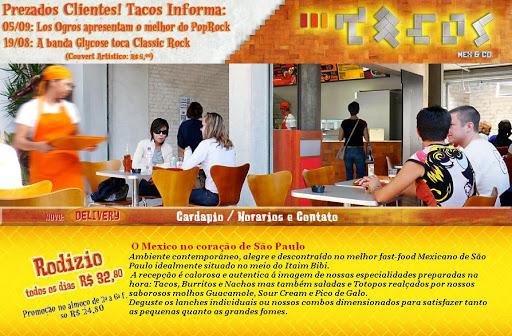 TACO 252520MEX Restaurante Mexicano em São Bernardo do Campo, Endereço e Telefone