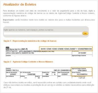Atualizar Boleto Itaú ou Unibanco Com Data de Vencimento e o Valor de Pagamento Para o Dia de Hoje