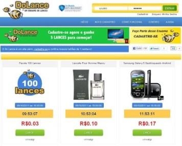 Site de Leilão de 1 Centavo Comprar Produtos Barato