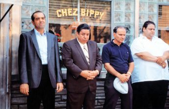 FILM STILL -- A BRONX TALE, Chazz Palminteri, Clem Caserta, Dave Salerno, Fred Fischer, 1993, (c) Savoy Pictures/courtesy Everett Collection