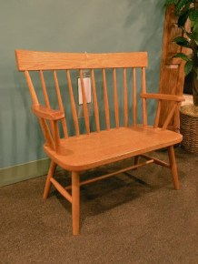 Double Wide Child's Chair Wood Species Shown: Oak Fully Customizable. Please contact us for pricing details.