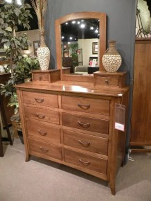 Metro Studio Chest with Mirror and 10 Drawers Wood Species Shown: Brown Maple Fully Customizable. Please contact us for pricing details.