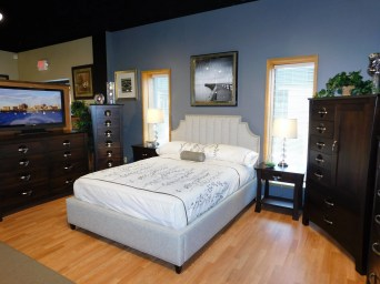 Lindley & Providence Bedroom Wood Species Shown: Brown Maple Fully Customizable.