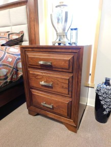 """Grand River 3-Drawer Nightstand Wood Species Shown: Sap Cherry Dimensions: 24""""W x 32""""H x 19""""D Fully Customizable. Please contact us for pricing details."""