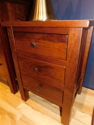 """Cabin Creek 3 Drawer Nightstand with Distressing Wood Species Shown: Rustic Cherry Dimensions: 21.25""""W x 28""""H x 17.5""""D Fully Customizable. Please contact us for pricing details."""