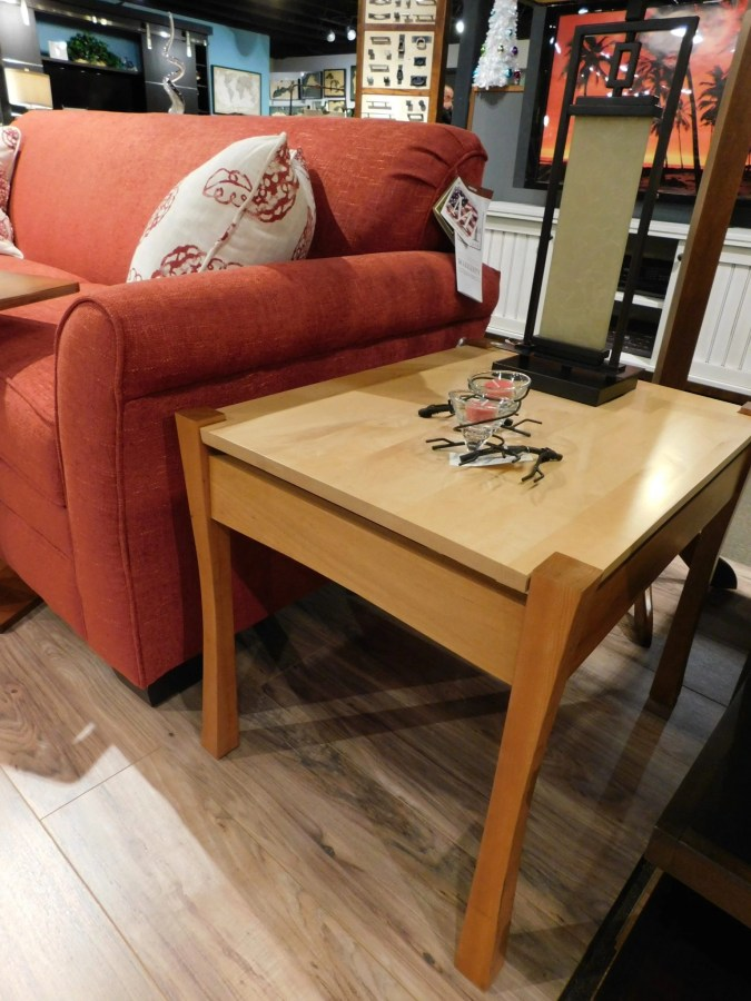 """Providence Large End Table Wood Species Shown: Cherry / Maple Dimensions: 21""""W x 27""""D x 22.25""""H Fully Customizable. Please contact us for pricing details."""
