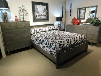 Park Cove Bedroom Wood Species Shown: Wire Brushed Oak Fully Customizable.