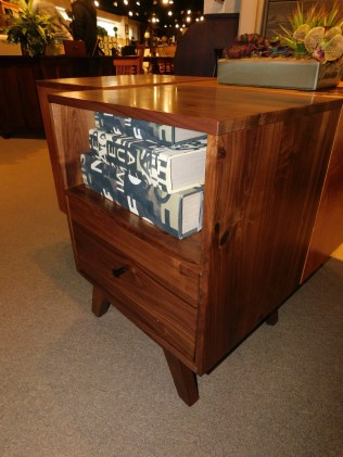 """Sullivan Road 1-Drawer Nightstand Wood Species Shown: Rustic Walnut Dimensions: 20""""W x 26""""H x 19""""D Price As Shown*: $938 Fully Customizable. *Price of piece not inclusive of current sales. Please see our Pricing page for more details."""