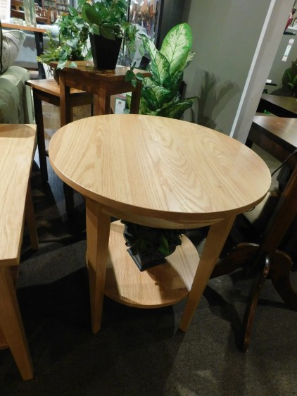 Round Shaker End Table with Shelf Wood Species Shown: Oak Fully Customizable. Please contact us for pricing details.