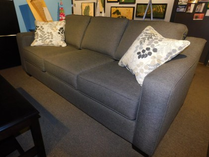 Central Avenue Sofa with 2 Pillows Fabric Shown: Gr. 16 #8077 Media Char Pillow Fabric: Gr. 15 #2638 Alfresco Winter Price As Shown*: $1,862 Partially Customizable. *Price of piece not inclusive of current sales. Please see our Pricing page for more details.