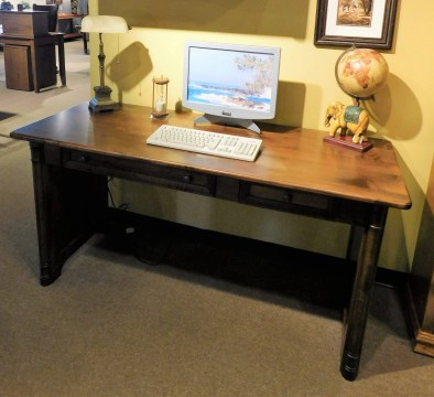 """Belmont Open Desk Wood Species Shown: Brown Maple Dimensions: 64""""W x 26""""D x 31""""H Fully Customizable. Please contact us for pricing details."""