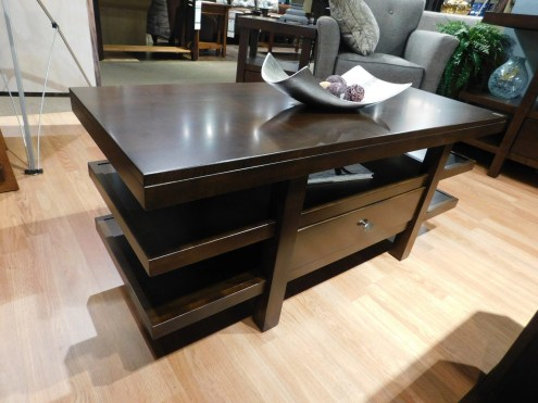 """Highland Coffee Table Wood Species Shown: Brown Maple Dimensions: 48""""L x 19""""D x 19.75""""H Fully Customizable. Please contact us for pricing details."""