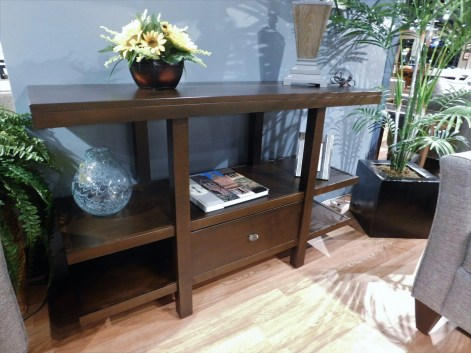 "Highland TV Stand Wood Species Shown: Brown Maple Dimensions: 52.5""W x 19""D x 32.5""H Price As Shown*: $920 Fully Customizable. *Price of piece not inclusive of current sales. Please see our Pricing page for more details."