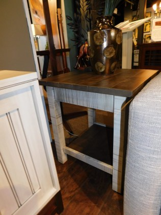 "Urbana Large End Table, Roughsawn with Plank Top Wood Species Shown: Brown Maple Dimensions: 22""W x 22""D x 24.5""H Price As Shown*: $552 Fully Customizable. *Price of piece not inclusive of current sales. Please see our Pricing page for more details."