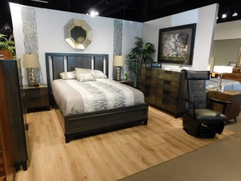 American Modern B2D2 Bedroom Wood Species Shown: Brown Maple Bed Size Shown: Queen Fully Customizable. Please contact us for pricing details.
