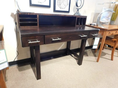 """Urban Desk with Topper Wood Species Shown: Brown Maple Dimensions: 48""""W x 24""""D x 38""""H Fully Customizable. Please contact us for pricing details."""
