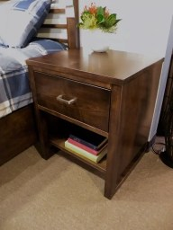 Highland Park Nightstand Wood Species Shown: Brown Maple Fully Customizable. Please contact us for pricing details.