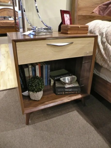 Kenton 1-Drawer & Shelf Nightstand Fully Customizable. Please contact us for pricing details.
