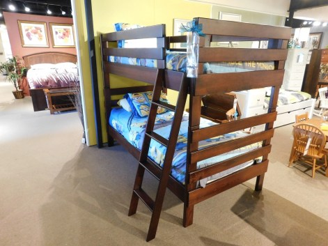 KC Twin Over Twin Bunk Beds Wood Species Shown: Brown Maple Size: Twin Over Twin Price As Shown*: $2,040 Fully Customizable. *Price of piece not inclusive of current sales. Please see our Pricing page for more details.