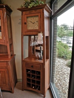McCoy Wine Cabinet with Clock