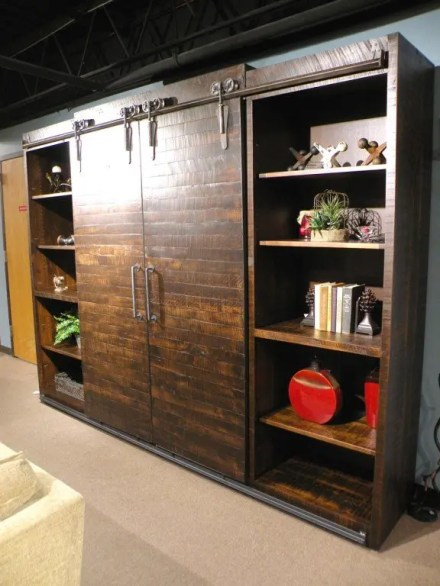 Dalton Wall Unit with Sliding Barn Doors *This piece is no longer shown on our sales floor but is still available to order.