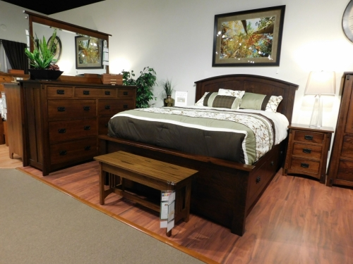 Dutch County Mission Bedroom Collection with Buckeye Economy Storage Bed