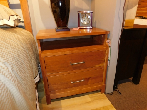 """Westmere 2-Drawer Nightstand with Opening and 1"""" Top"""