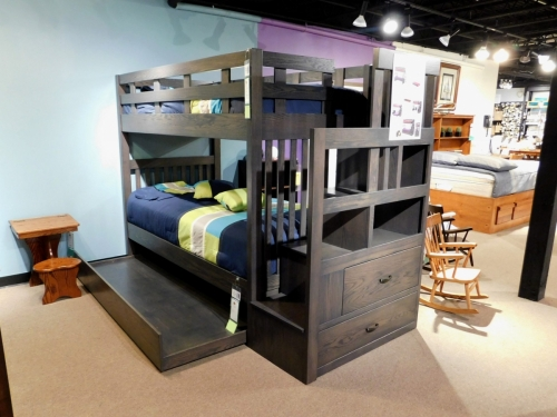 Twin Over Twin Bunk Bed with Staircase