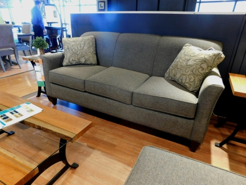 Essentially Yours Sofa with Bow Arm and Buttons in Back