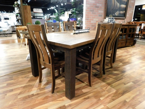 Silvlerton Solid Top Leg Table in Reclaimed Barnwood