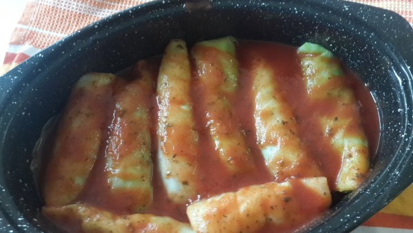 cabbage rolls in roaster