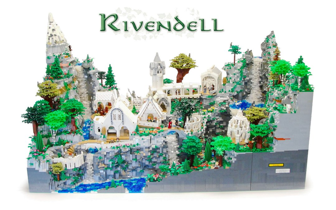 LEGO Lord of the Rings CUSTOM Rivendell is magnificent!