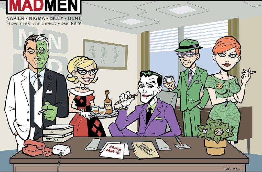 Batman Mashup: Arkham Asylum meets Mad Men and Boardwalk Empire