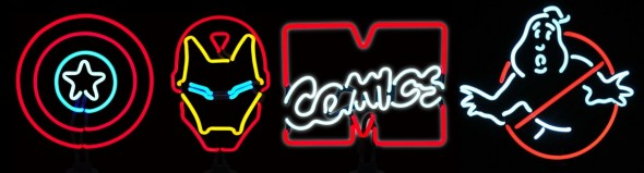 Diamond Select has Marvel Comics and Ghostbusters Neon Signs available just in time for Halloween!
