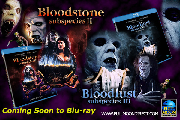 Full Moon's 'Subspecies II & III' coming to bluray in 2013!