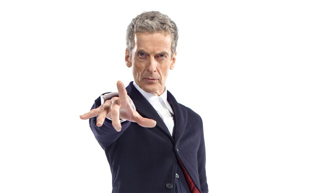 Just what exactly is the Twelfth Doctor, Peter Capaldi, looking at for this Caption This?