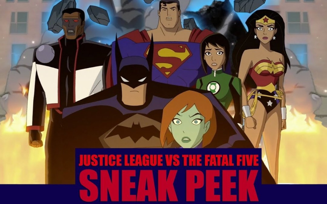 Justice League vs The Fatal Five – Get a sneak peek at the upcoming DC animated feature!
