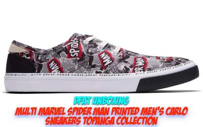 DFAT Unboxing: TOMS Multi Marvel Spider Man Printed Men's Carlo Sneakers Topanga Collection