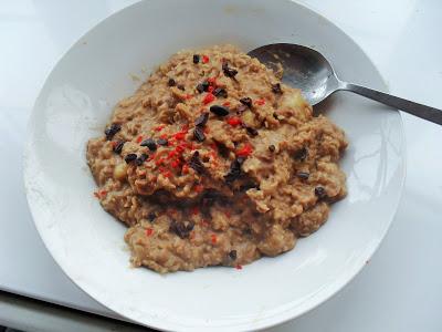 Chocolate chillana porridge Breakfast vegan