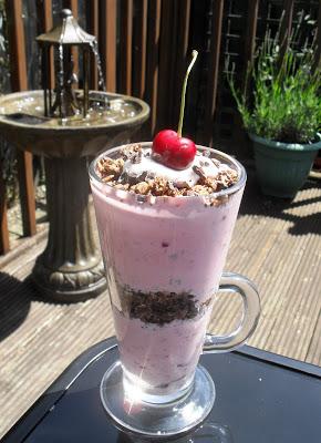 Chocolate cherry homemade granola crunch cup Breakfast Lunch snack Uncategorized vegan