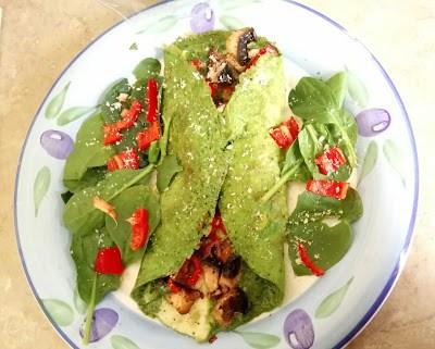 Cheesy garlic green St Patrick's day omelette Breakfast Dinner Lunch Uncategorized