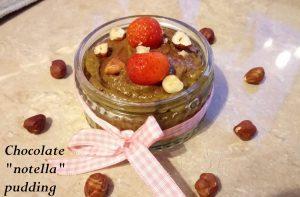"Creamy chocolate nourishing ""notella"" pudding + 1/5 a day! Desserts snack Uncategorized vegan"