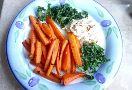 Chipotle carrot chips with hummus Dinner Lunch vegan