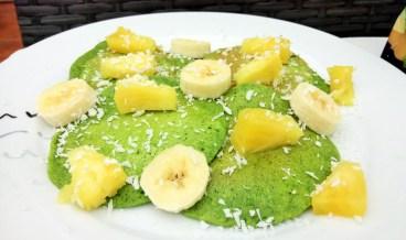 Tasty tropical secret spinach pancakes Breakfast Dinner Lunch