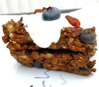 Berry banana brownie breakfast bars Breakfast Lunch snack vegan