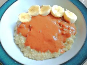 Easy banana nut butter super grain porridge Breakfast vegan